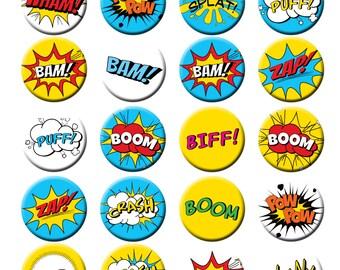 Mega Set Heroes POWER WORDS 150 digital graphics clip art Fighting Words {Instant Download}