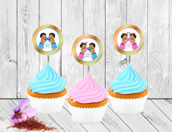 Boys Girls Both Twins Boxing Theme Gender Reveal Party Favor Etsy Inspiration Boxing Party Theme Decorations