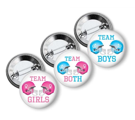 VB126 Ladybug Theme Twin Reveal 1.5 VB445 1.25 2.25 Pinback Button Team Both Twins Black Red VB150 Reveal Gender Reveal