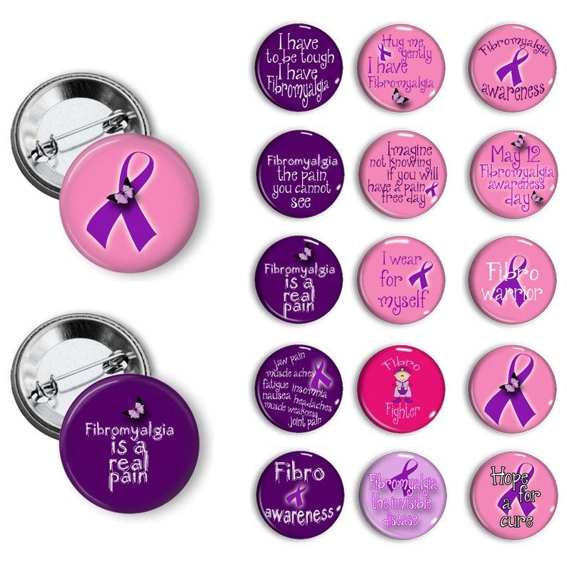 a646223257d Fibromyalgia Awareness Pins Fibromyalgia Awareness Buttons Fibromyalgia  Awareness Badges 1.25 inch pinback buttons pins badges