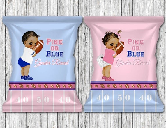 Pink Or Blue Football Theme Gender Reveal Party Favor Etsy