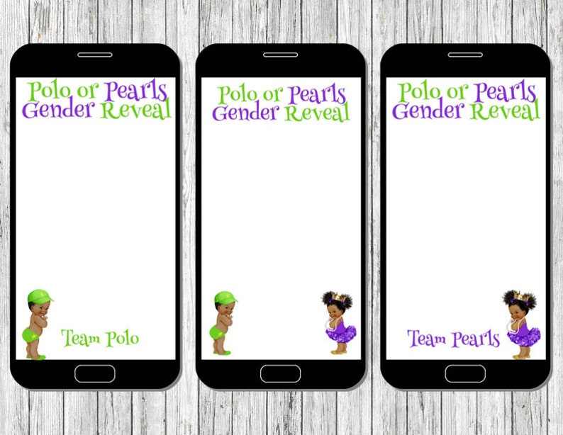 Polo or Pearls Snapchat Geo filters 3 pack Gender Reveal party | Etsy