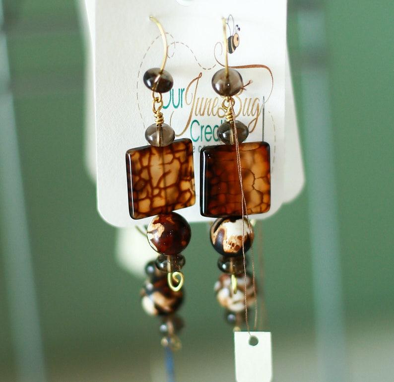 Spider Agate Earrings!