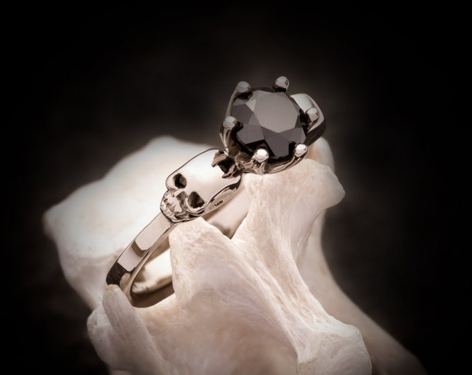 RESERVED for Samantha, Payment Plan for 14K Palladium White Gold Ring with Black Spinel, total Price 860 Euros