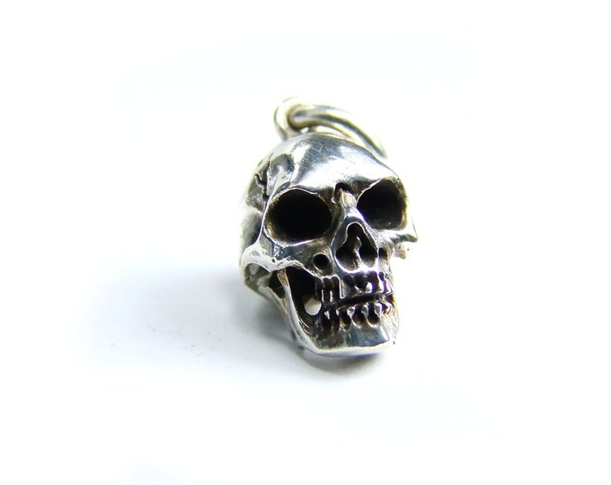 Skull Charm, Edgy Pendant for Men, Memento Mori Jewelry