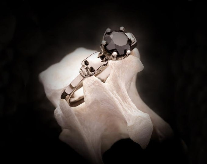 RESERVED for Duncan - Final Payment Wandika in 14K white gold with black spinel total price 920 Euros