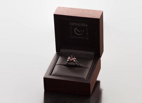 Kipkalinka Nussbaum Holzkiste Ring Box Box Upgrade Fur Etsy