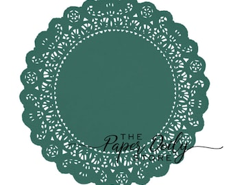 """EMERALD GREEN PAPER Lace DOILIES4/"""" 6/"""" 8/"""" 10/""""Christmas Green Color Doilies"""