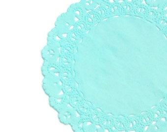 "Aqua Marine Teal PAPER Lace DOILIES4/"" 6/"" 8/"" 10/"" 12/"" 14/""TEAL Paper Doily"