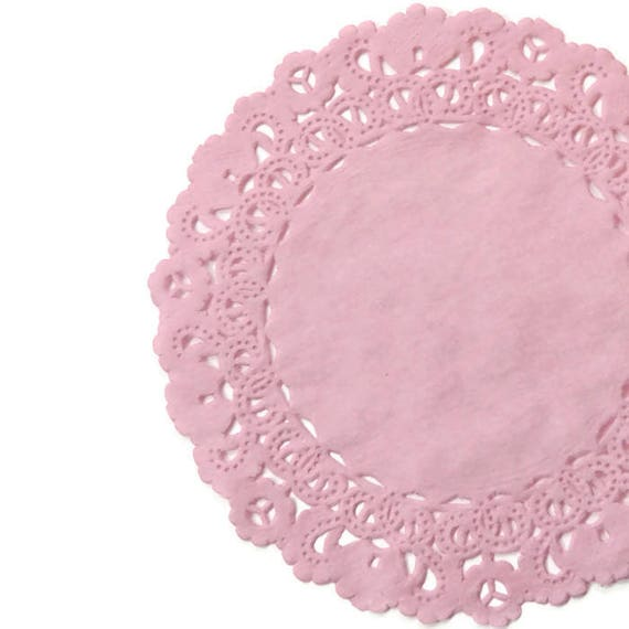 """DARK PINK Color Dyed PAPER LACE DOILIES4/"""" 6/"""" 8/"""" 10/"""" 12/"""" 14/""""Baby Pink Doily"""