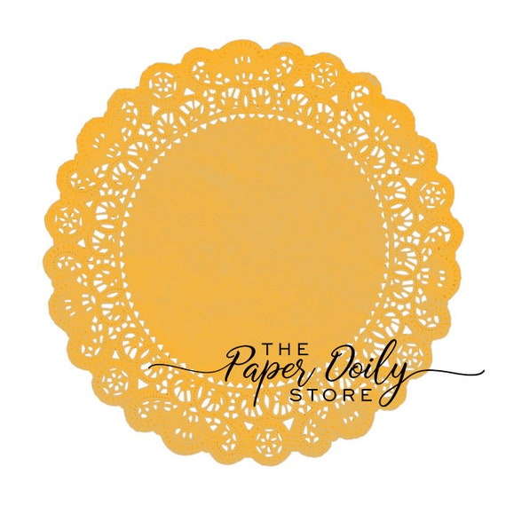 """MARIGOLD YELLOW GOLD PAPER Lace DOILIES4/"""" 6/"""" 8/"""" 10/"""" 12/"""" 14/""""Yellow Doilies"""