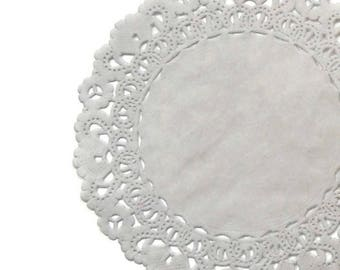 """Paper Doilies SLATE GRAY   4"""" 5"""" 6"""" 8"""" 10"""" 12"""" 14"""" 16"""" Sizes   Grey Doily, Gray Chargers, Grey Doily Placemat, Grey Charger"""
