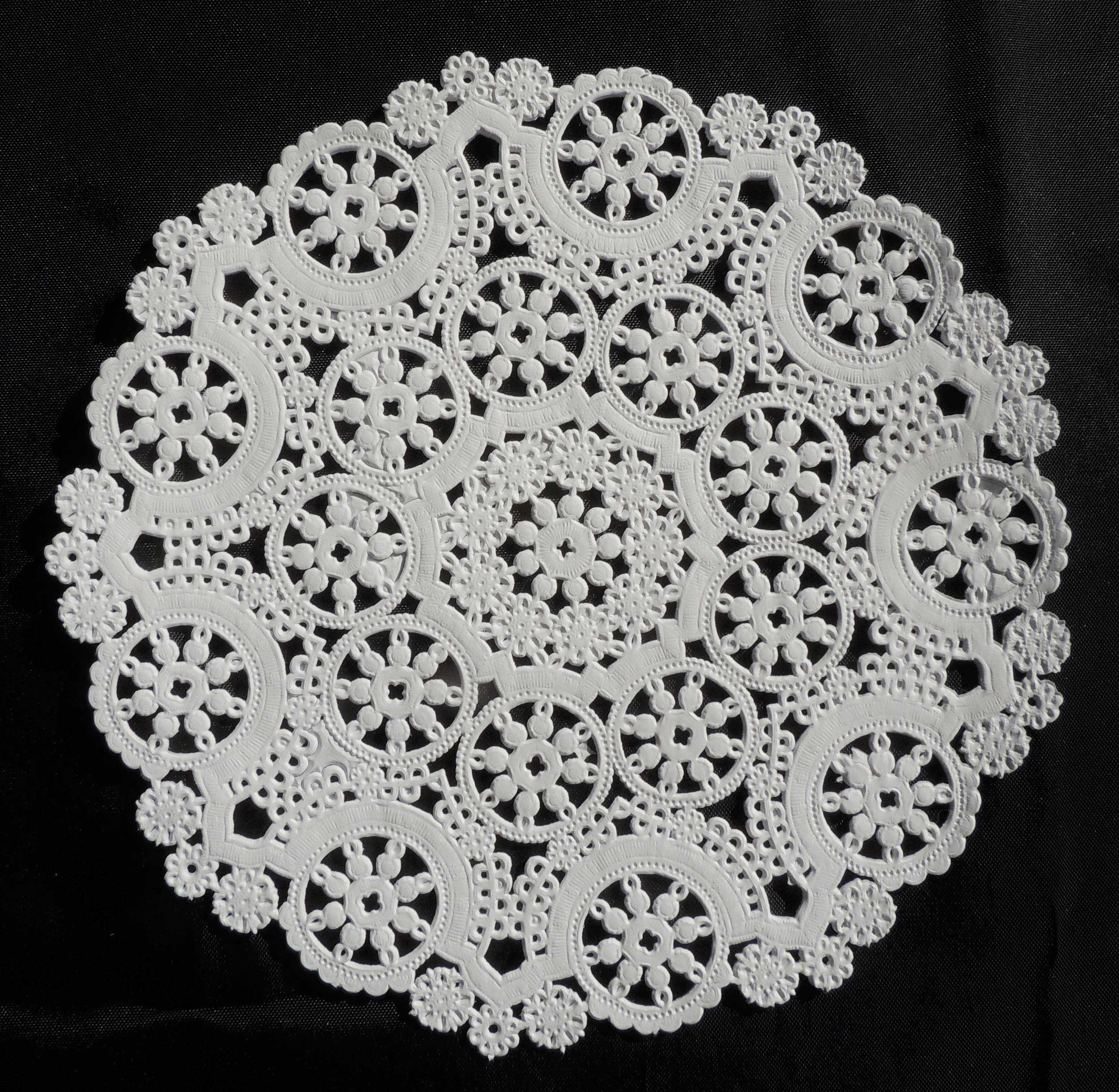 50 4 White Medallion Paper Doilies Round Paper Etsy