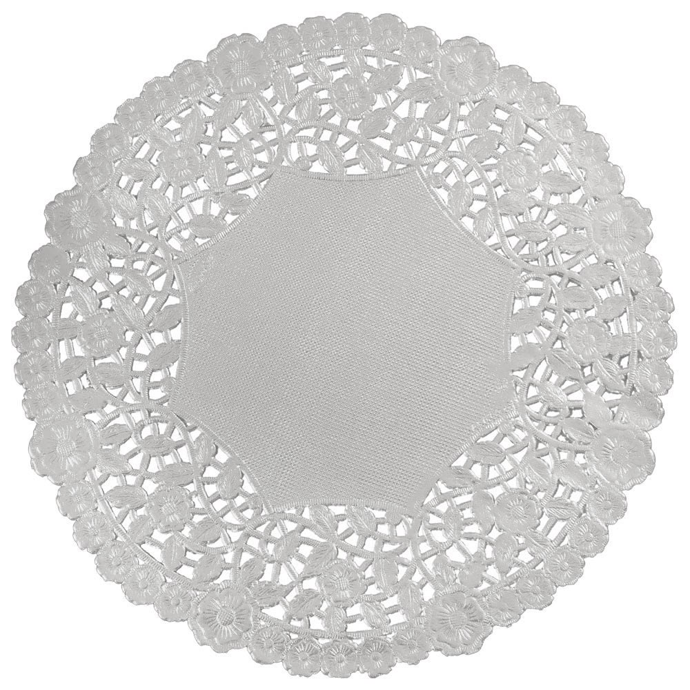 Silver Doily 100 10 Silver Metallic Foil Paper Lace Etsy