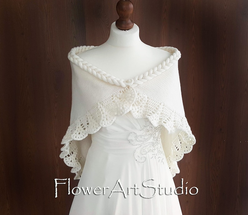 fda5589275b Ivory Bridal Cover Up Wedding Bolero Ivory Shrug Crochet