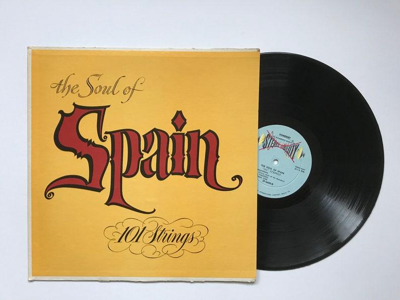 "Vintage Vinyl Record 101 Strings ""The Soul of Spain""- Somerset Records  Album, LP Album SF-6600, Latin Dance Instrumental Spanish Music"