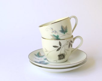 Vintage Cups. Demitasse Cup Sets.Tea /Coffee Cups.Vintage Noritake RC Royal China. Two Duos. Food Props.Childrens Tea Set