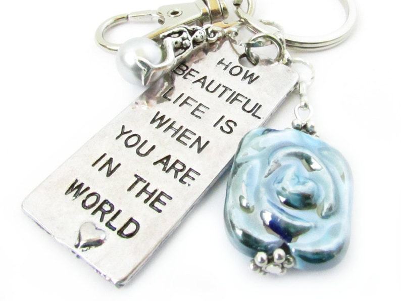 MERMAID Themed KEYCHAIN Pendant BAG CHARM Strong KEYRING Quote Charm GIFT