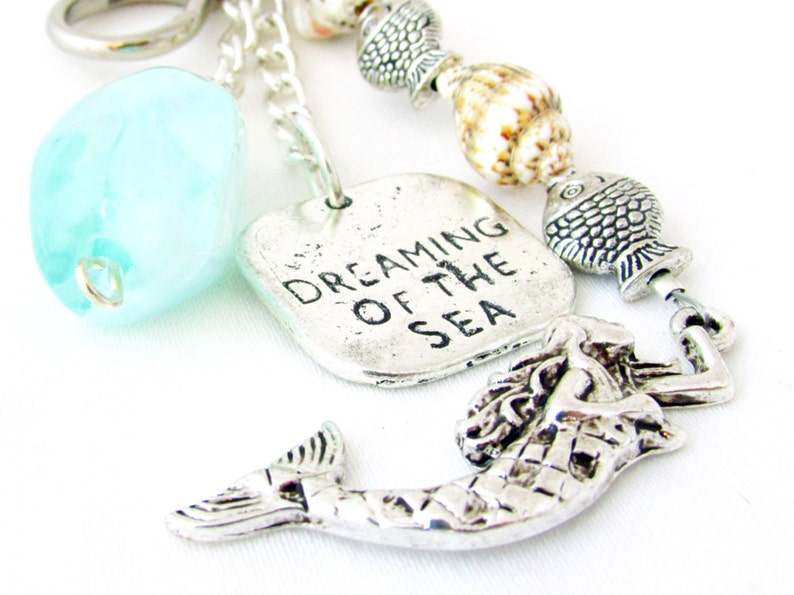 Mermaid Keychain Mermaid Gift Dreaming of the Sea Keychain image 0