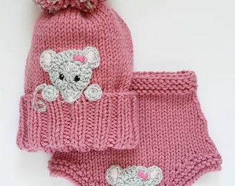 Handmade Light Pink Sparkle Bun Cover Snood with Disney Inspired Felt Mickey Mouse Felt Gingerbread Buttons for Up Do Hair Tie Hair Holder