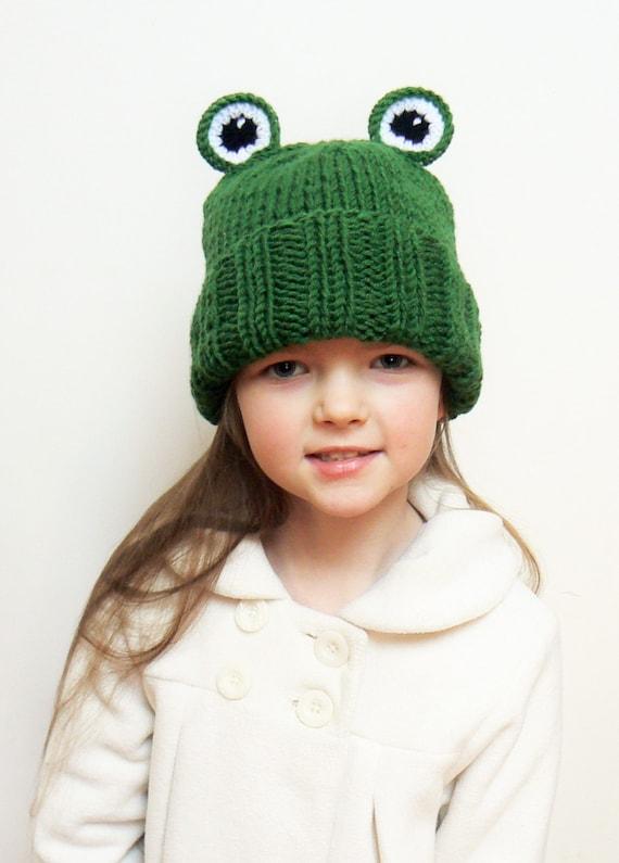 Kids Winter Hat Frog hat Knit Hat Animal hat Beanie Hat  9cae8f42a5