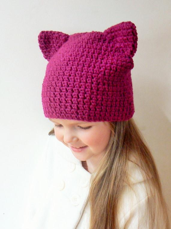 Katzen Ohren Mütze Katze Beanie Rosa Katzenmütze Hut Häkeln Etsy