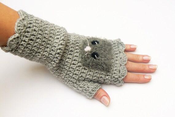 Fingerlose Handschuhe Handschuhe Häkeln Handschuhe Mit Etsy