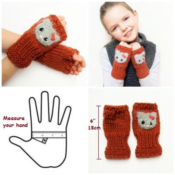 Niños guantes manguitos guantes Fingerless muñeca | Etsy
