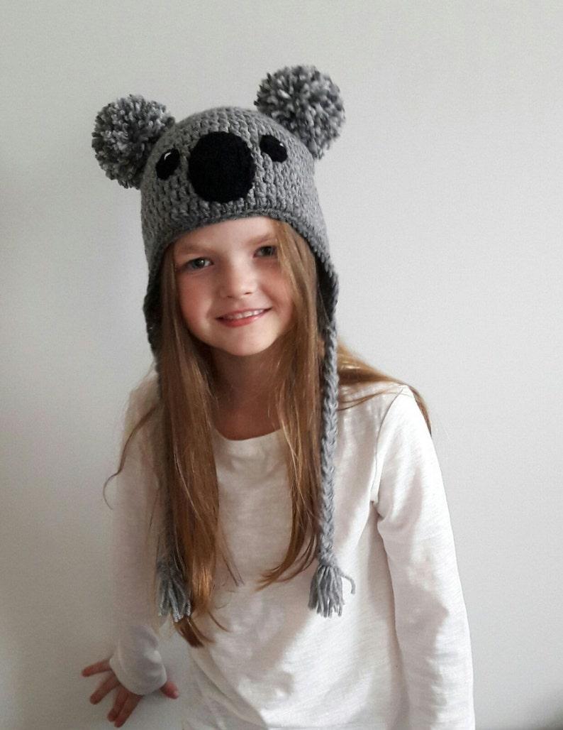 Koala Hat Crochet hat Kids Outfit Baby Hat Women Hat Cute  ea43576cec9