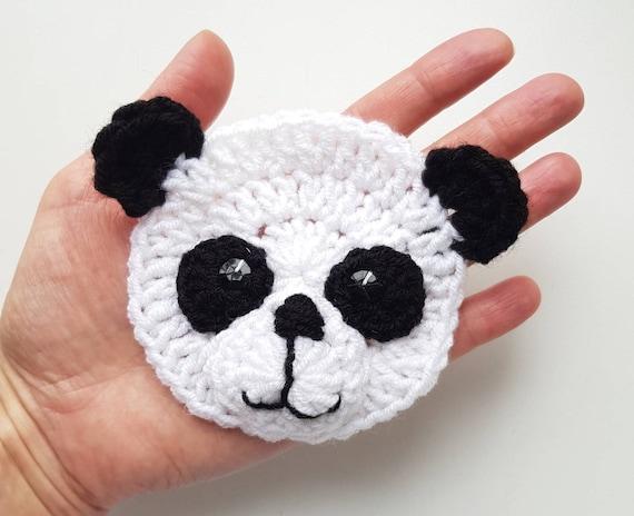 Panda PANDA apliques apliques de Crochet ganchillo animales  86f2bc0e7d8