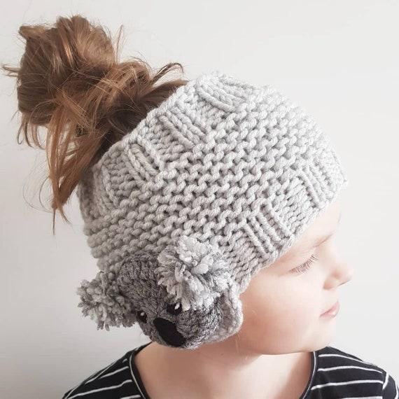 Koala Headband Ear Warmer Knit Headband Head Wrap Girls | Etsy