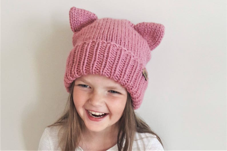 42b203b8 Cat Beanie Cat Ears Hat Kitty Hat Girls Outfit Winter Hat | Etsy