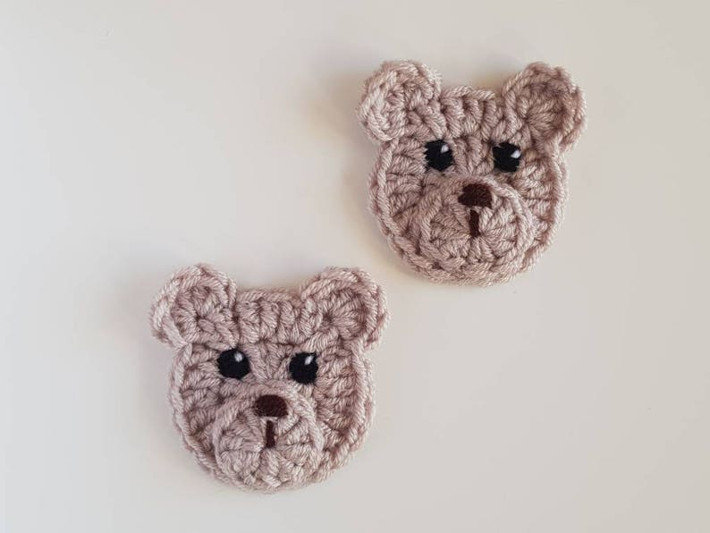 Crochet bear applique set of pcs woodland animals crochet etsy