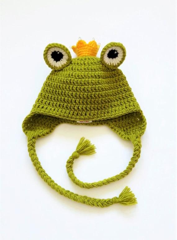 Häkeln Sie Frosch Hut Frosch Prinzessin Froschkönig Etsy