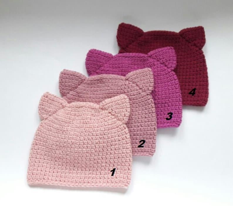 Cat Beanie Pussy Hat Pussy Cat Hat Women Hat Kitty Hat Crochet Cat Hat Hot Pink Cat Hat Cute Hat Cat Ear Hat Pink Cat Hat Cat Ears