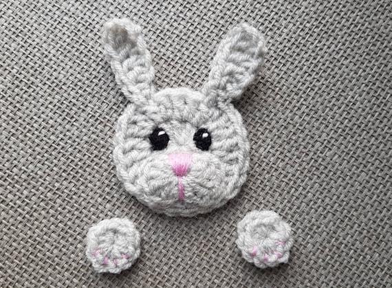 Häschen Applikation Häkeln Kaninchen Häkeln Applikationen Etsy