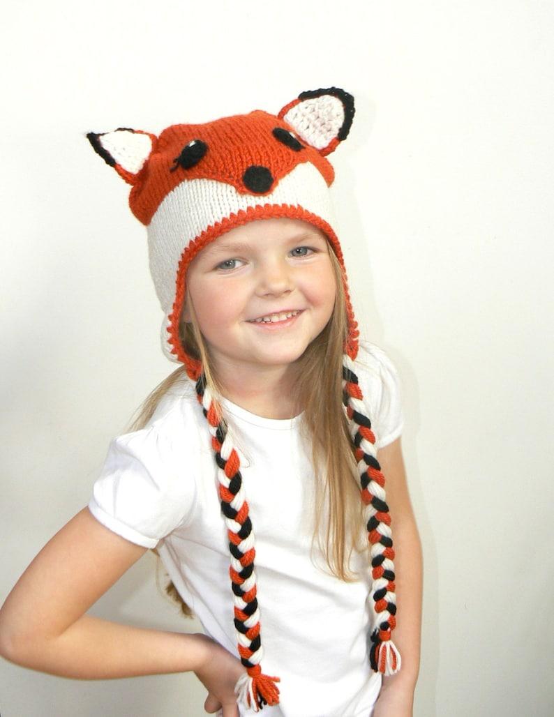 Fox hat Animal Hat Baby Fox Hat Fox Costume Fox Beanie  bf027921cd9