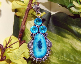 WISE Lunar Elf inspired vessel - Handcrafted Solar Quartz Topaz pendant with chain