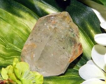LARGE ENHYDRO Quartz 68g rainbow phantom specimen rare crystal - bubbles particles for reiki application