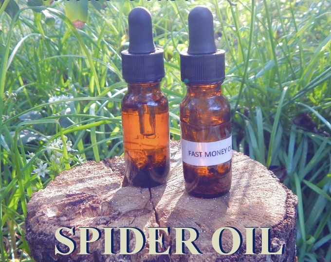 SPIDER OIL 15ml - Weaver of Fate, Ensnare your desires oil for candles altar anointing - handmade with essential oils & herbs