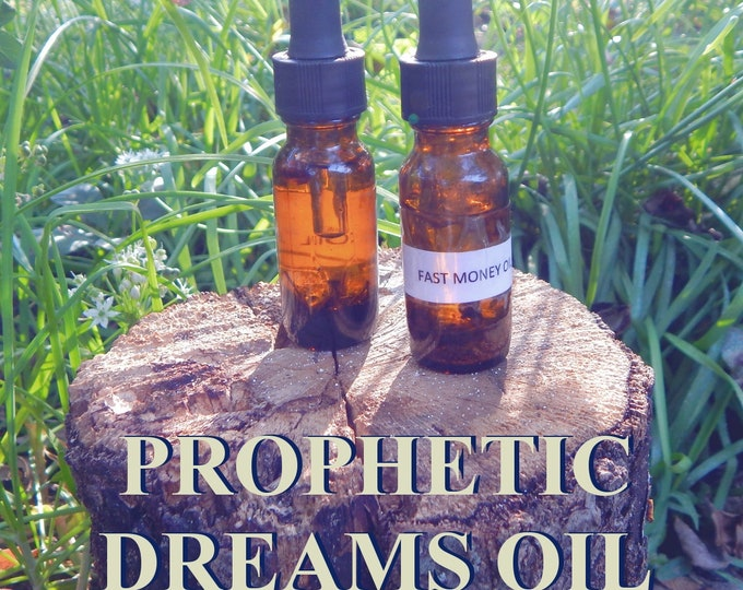 PROPHETIC DREAMS OIL 15ml - Dreaming, astral travel, flying ointment for candles altar anointing - handmade with essential oils & herbs