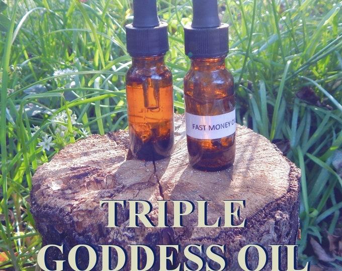 TRIPLE GODDESS OIL 15ml - Goddess energy, cosmic awareness, feminine divine for candles altar anointing - handmade with essential oils