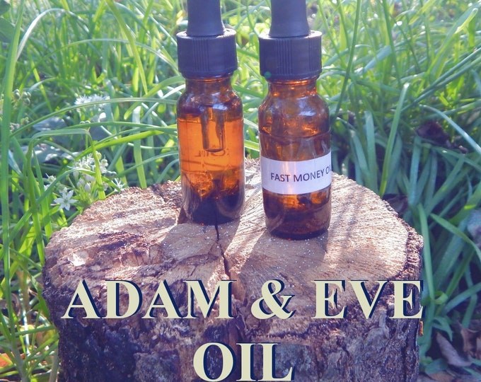 ADAM & EVE OIL 15ml - Reunite lovers, passion, harmony for candles altar anointing - handmade with essential oils and herbs