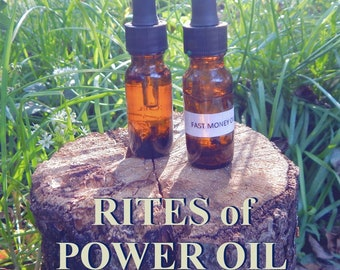 RITES of POWER OIL 15ml - Ritual oil for spiritual power, attract spirits for candles altar anointing - handmade with essential oils