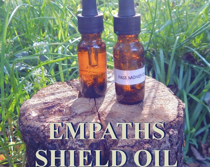 EMPATHS' SHIELD 15ml - remove negativity, cut cords, protection for candles altar anointing - handmade with essential oils & herbs
