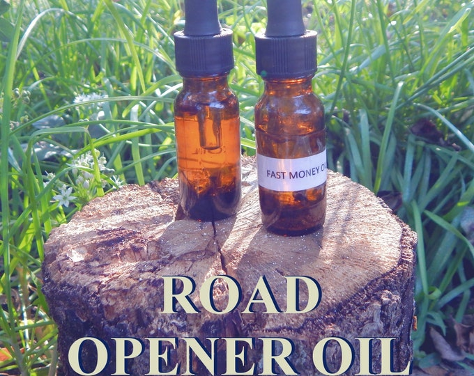 ROAD OPENER OIL 15ml - Remove obstacles, clear pathways for candles altar anointing - handmade with essential oils