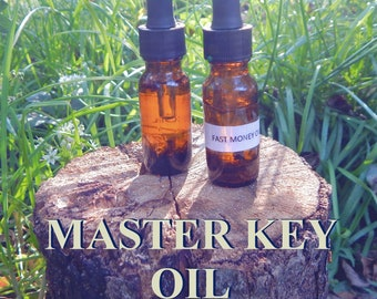 MASTER KEY OIL 15ml - Occult wisdom, spiritual mastery, good fortune for candles altar anointing - handmade with essential oils