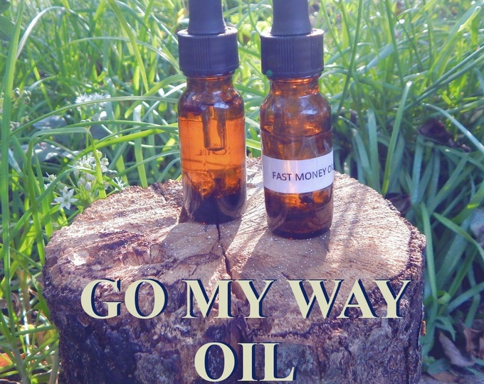 Go MY WAY OIL 15ml - Compelling, court cases, success, persuasion for candles altar anointing - handmade with essential oils & herbs
