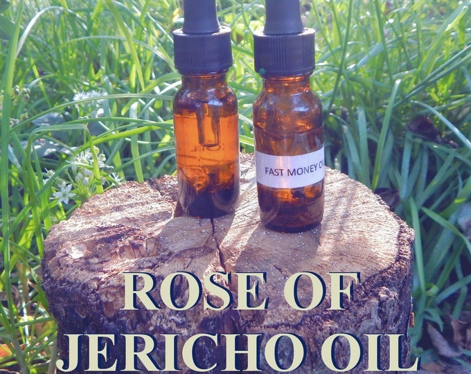 ROSE of JERICHO OIL 15ml - Abundance, Prosperity, Manifest Money for candles altar anointing - handmade with essential oils & herbs