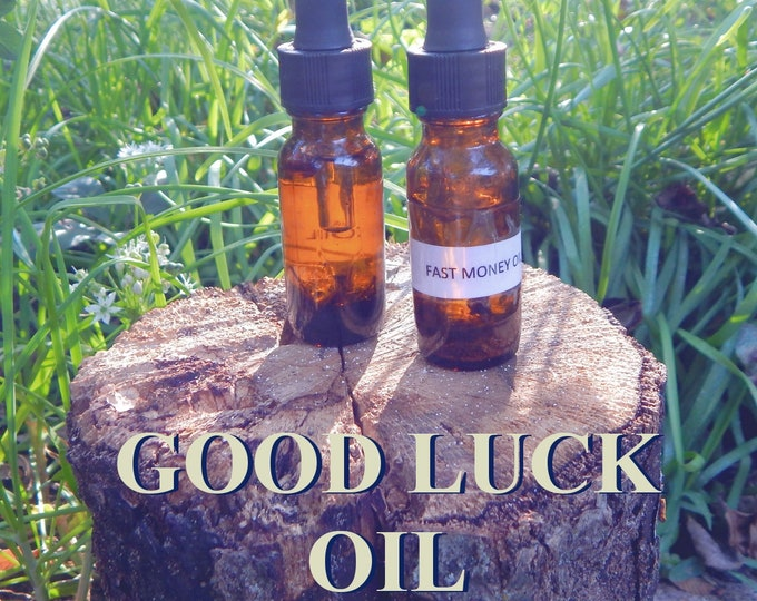 GOOD LUCK OIL 15ml - Gambling, blessings, good fortune for candles altar anointing - handmade with essential oils & herbs